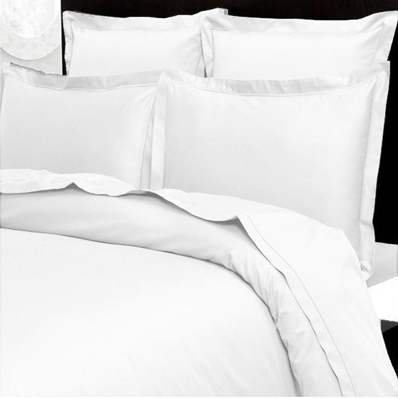 taie d 39 oreiller 65x65 satin de coton prestige 240 fils cm la compagnie du blanc. Black Bedroom Furniture Sets. Home Design Ideas