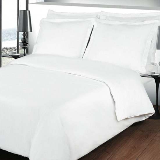 taie de traversin unie percale 80 fils cm coton peign la compagnie du blanc. Black Bedroom Furniture Sets. Home Design Ideas