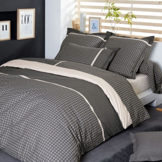 parure de couette gatsby percale tradilinge. Black Bedroom Furniture Sets. Home Design Ideas