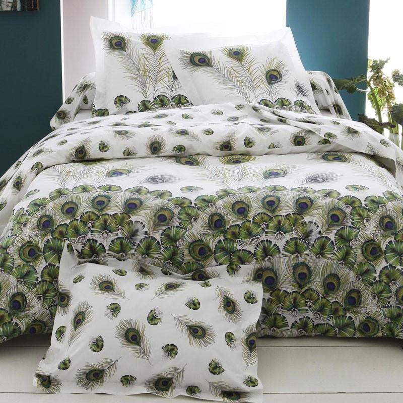 linge de lit tradilinge peacock. Black Bedroom Furniture Sets. Home Design Ideas