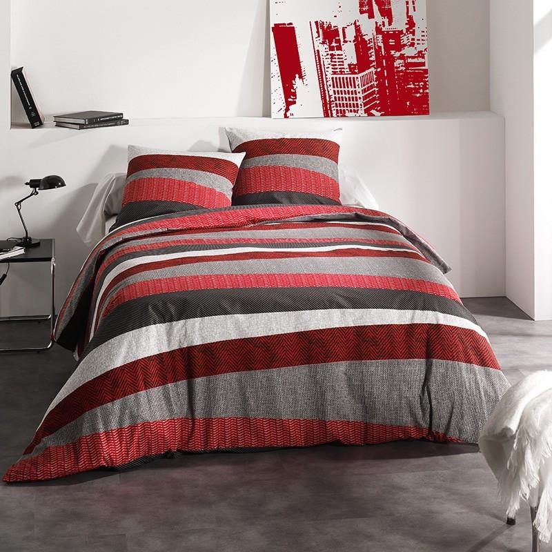 housse de couette tribecca rouge c design. Black Bedroom Furniture Sets. Home Design Ideas