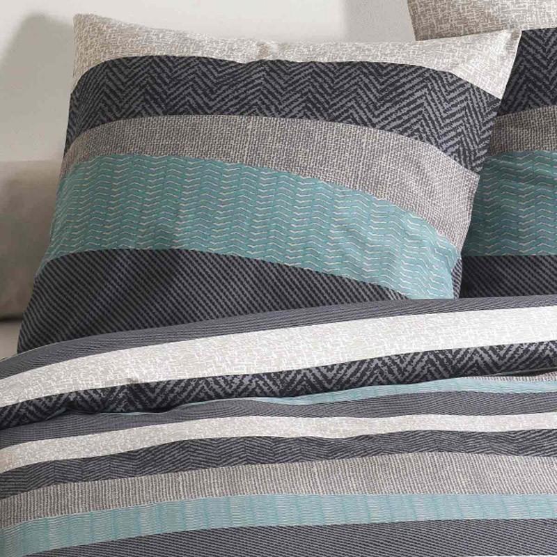 parure housse de couette c design tribeca orage. Black Bedroom Furniture Sets. Home Design Ideas