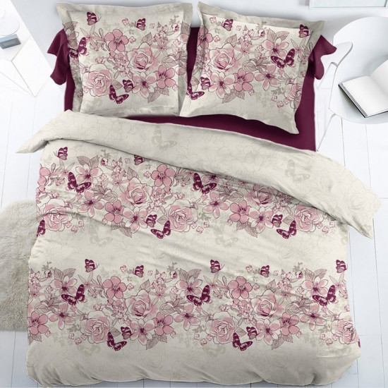 housse de couette percale papillons. Black Bedroom Furniture Sets. Home Design Ideas