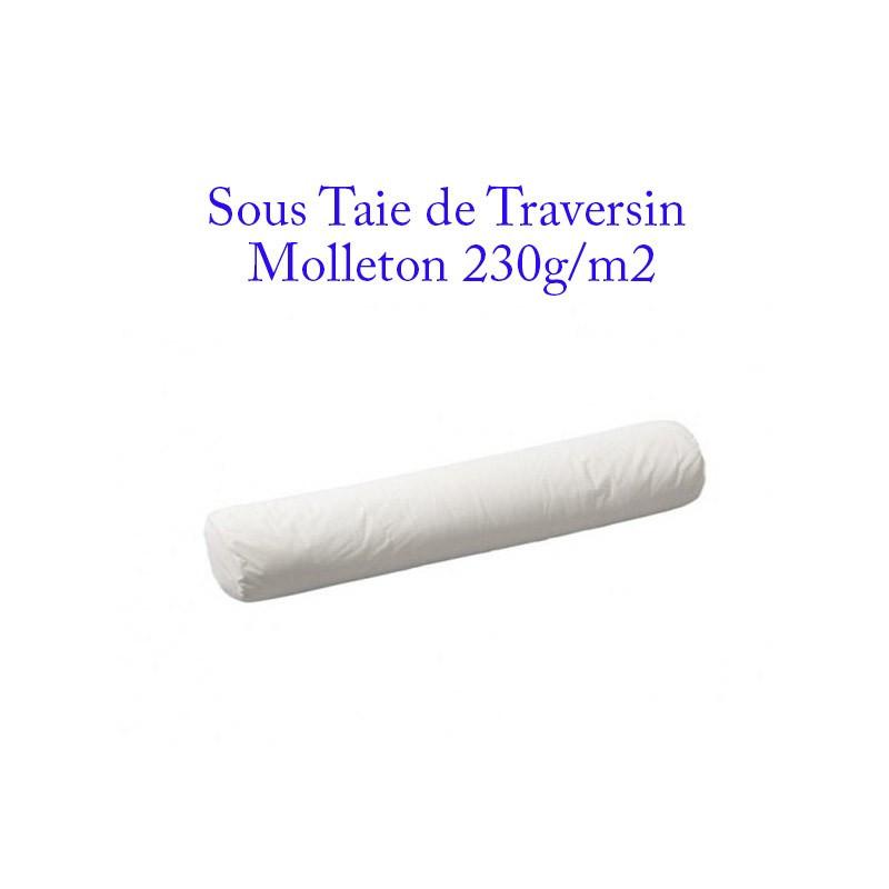 Sous taie de traversin molleton 230 gm2  Protection