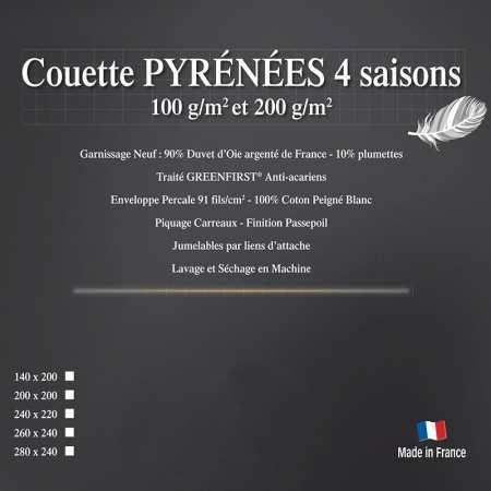 Couette Double Duvet d'Oie Luxe