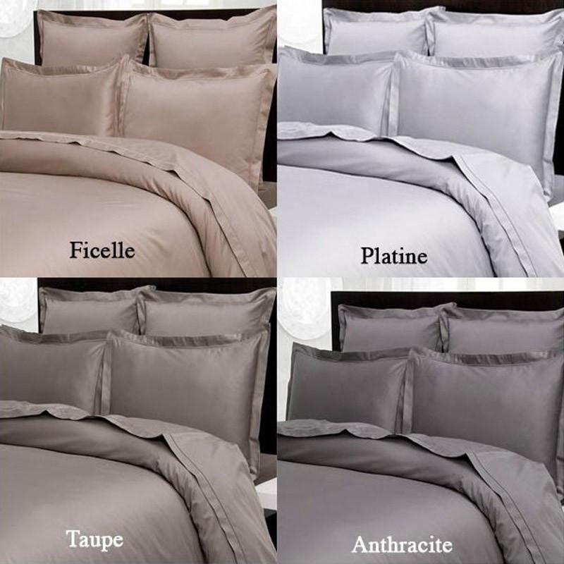 drap plat satin de coton 240 fils cm2. Black Bedroom Furniture Sets. Home Design Ideas
