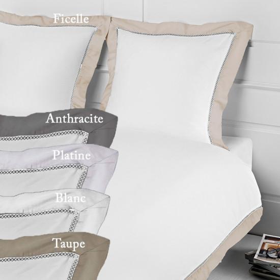 housse de couette 200x200 jour crois luxe 120 fils cm2. Black Bedroom Furniture Sets. Home Design Ideas