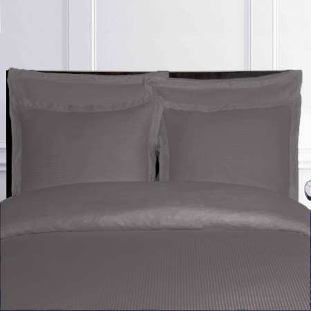 housse de couette gris anthracite fines rayures