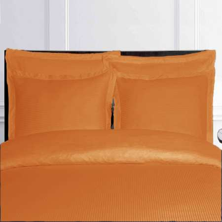 Housse de Couette ORANGE satin de Coton