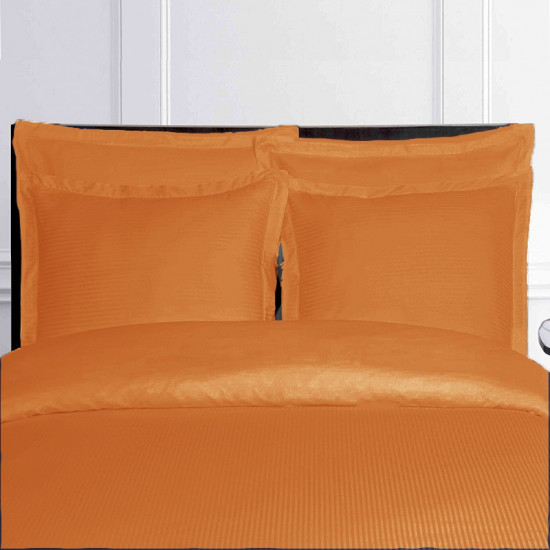 housse de couette orange satin de coton. Black Bedroom Furniture Sets. Home Design Ideas