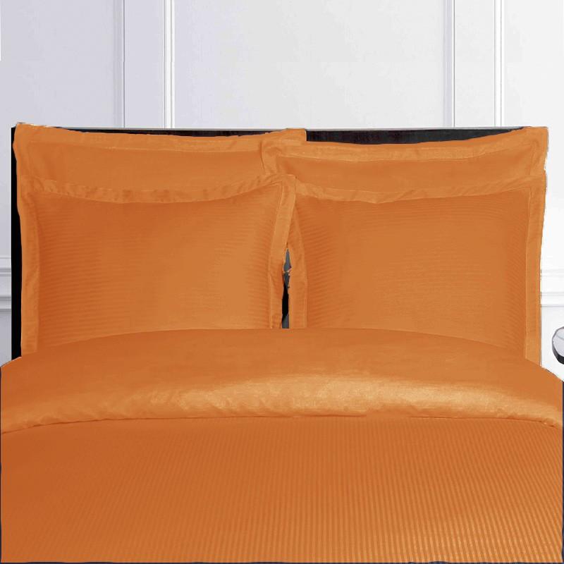 housse de couette orange satin de coton. Black Bedroom Furniture Sets. Home Design Ideas