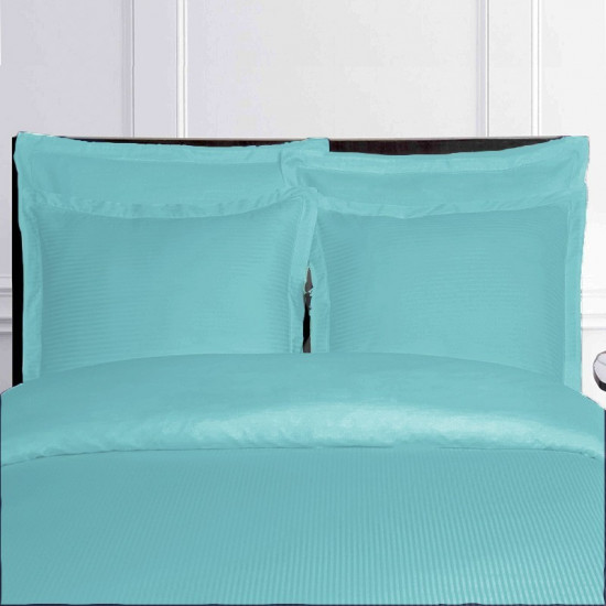 housse de couette bleu turquoise satin de coton. Black Bedroom Furniture Sets. Home Design Ideas