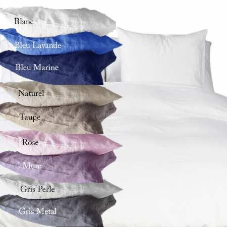 taies d 39 oreillers la compagnie du blanc. Black Bedroom Furniture Sets. Home Design Ideas