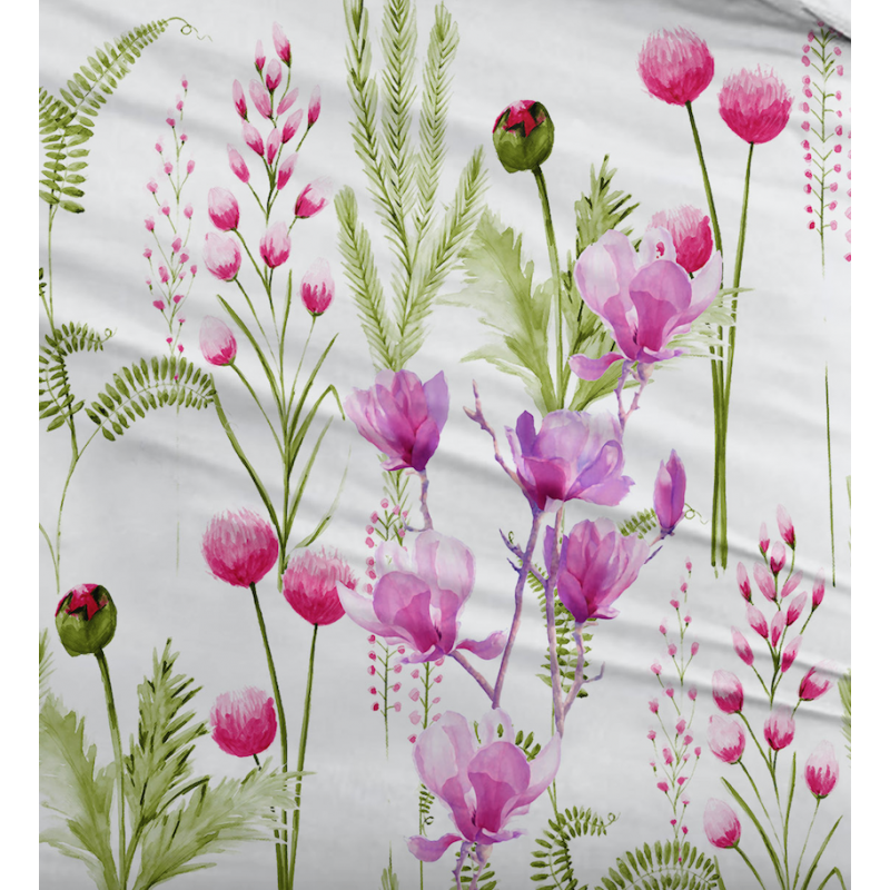 Souvent Housse de Couette avec des fleurs fushia FJ41