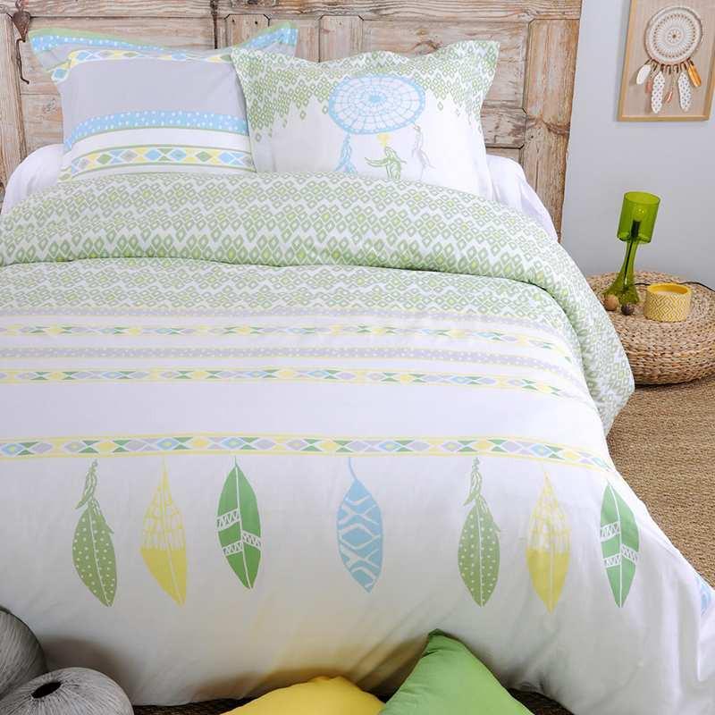 parure de couette wildho jaune. Black Bedroom Furniture Sets. Home Design Ideas