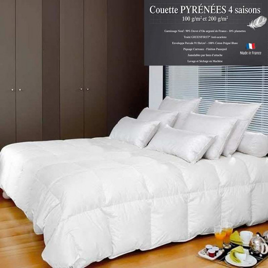 couette 4 saisons duvet de d 39 oie neuf de france. Black Bedroom Furniture Sets. Home Design Ideas