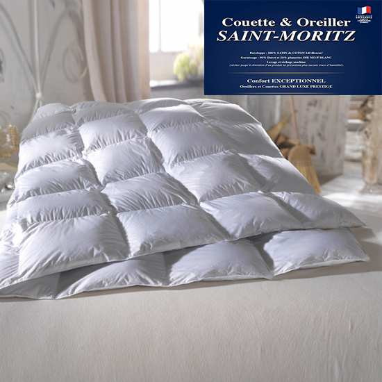 Couette Luxe Duvet d'Oie Extra Blanc Neuf