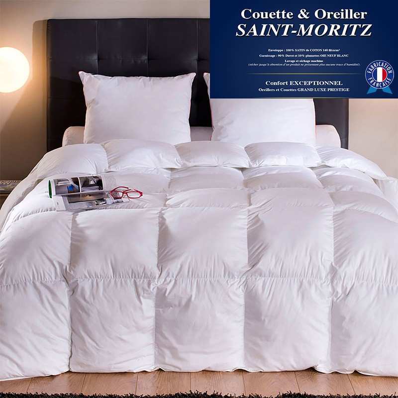 couette 90 duvet oie blanc neuf tr s chaude hiver. Black Bedroom Furniture Sets. Home Design Ideas