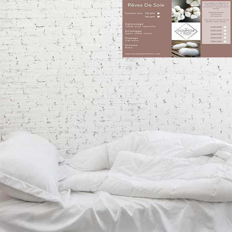 couette en soie l g re 200g. Black Bedroom Furniture Sets. Home Design Ideas