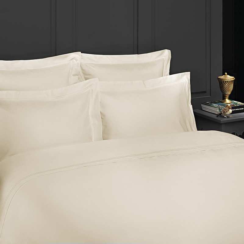 taie d 39 oreiller en satin de coton luxe 320 fils. Black Bedroom Furniture Sets. Home Design Ideas