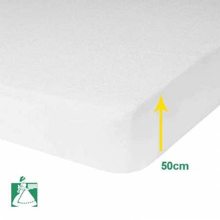 Protege Matelas Molleton Luxe 400g/m2 BONNET 50 cm