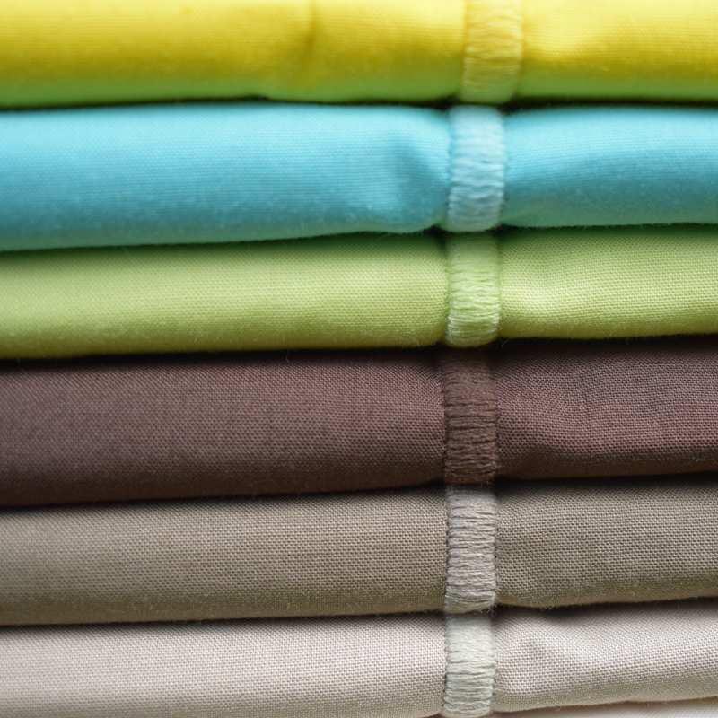 drap housse uni percale 80 fils cm coton peign la compagnie du blanc. Black Bedroom Furniture Sets. Home Design Ideas