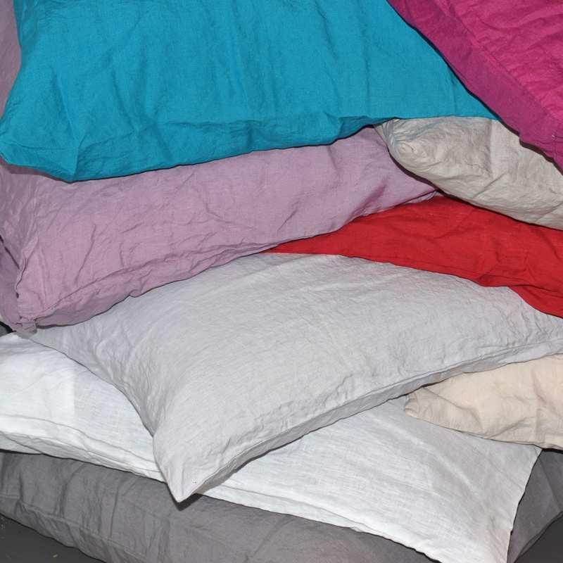 housse de couette en lin lav pour lit 1 et 2 personnes. Black Bedroom Furniture Sets. Home Design Ideas