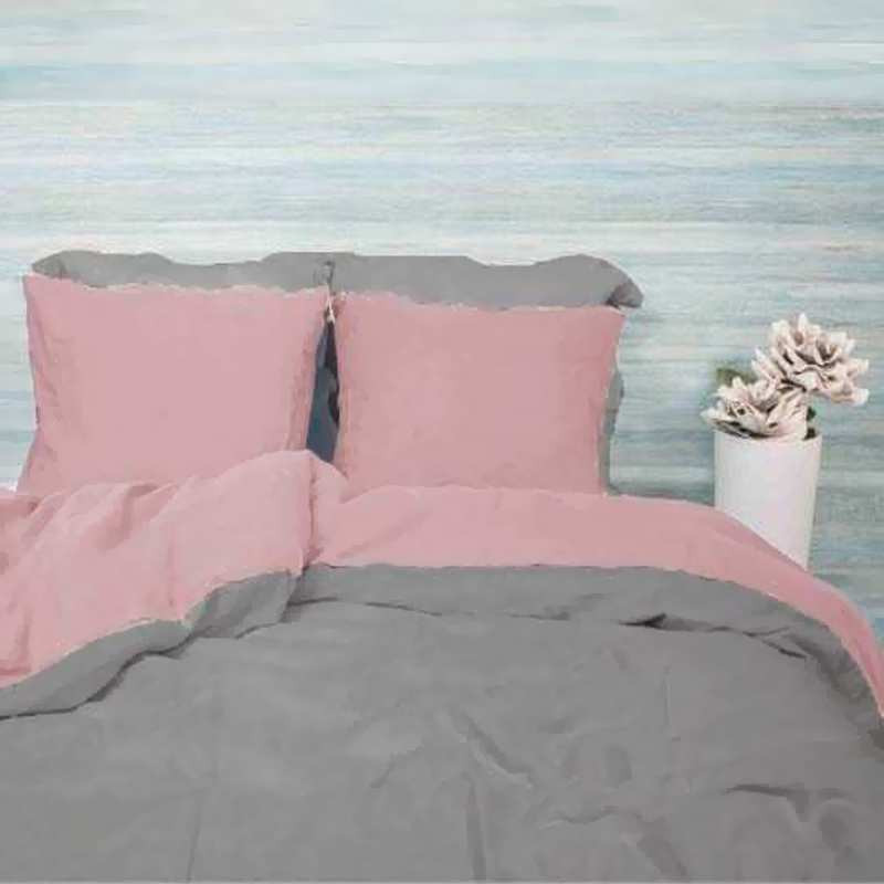 linge de lit bicolore lin lav 220x240. Black Bedroom Furniture Sets. Home Design Ideas