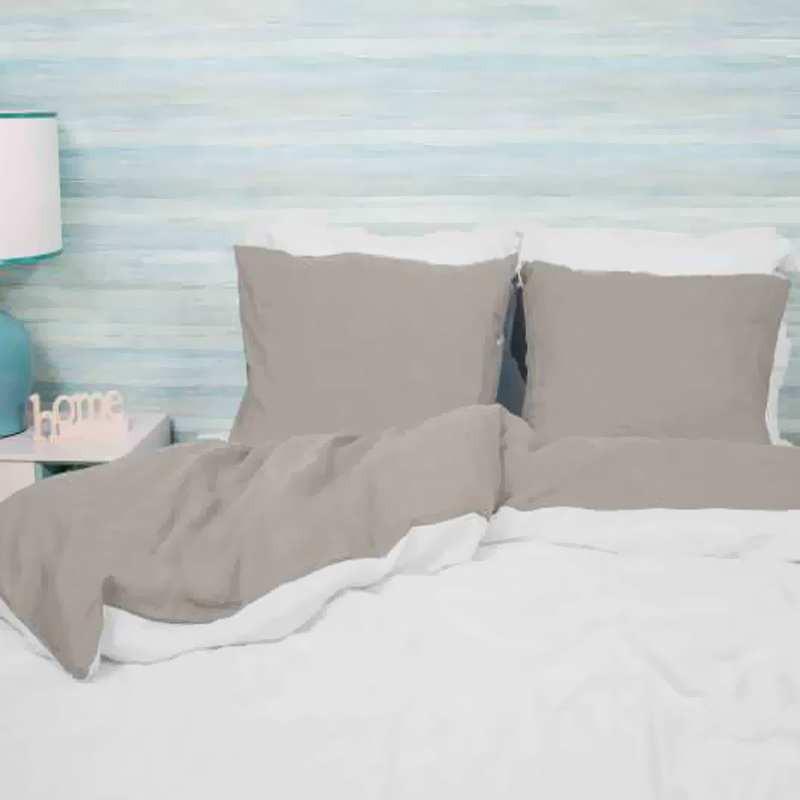 housse de couette 240x260 bicolore lin lav. Black Bedroom Furniture Sets. Home Design Ideas