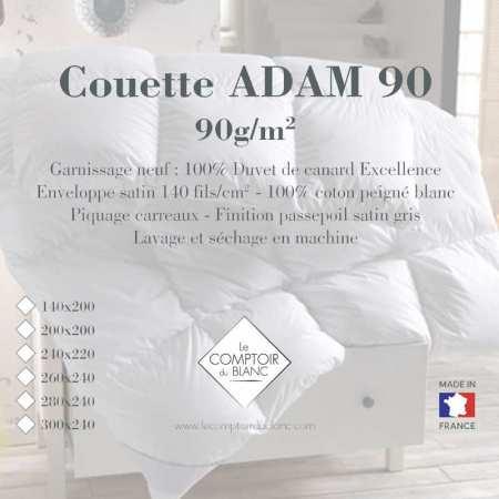 Couette Adam 100% Duvet Excellence