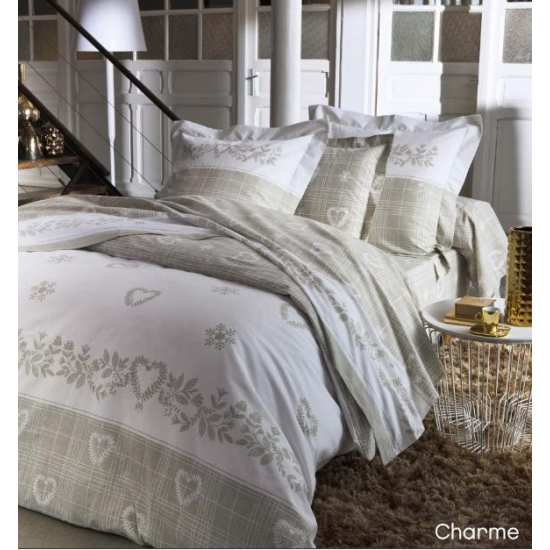 parure de draps charmes 4 pi ces dh140 dp240 2to la compagnie du blanc. Black Bedroom Furniture Sets. Home Design Ideas