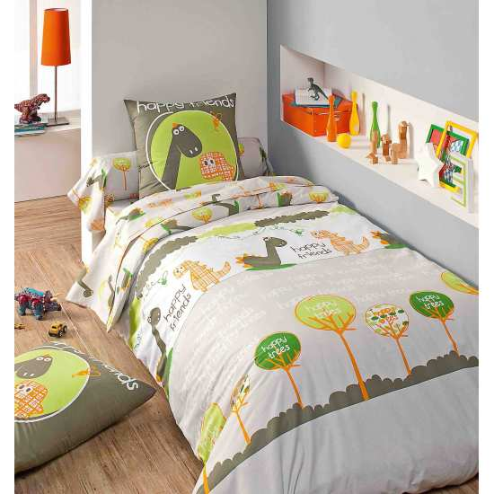 Housse de Couette Dino 200x200 + 2 taies 65x65
