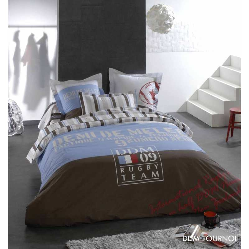 housse de couette demi de melee tournoi rugby. Black Bedroom Furniture Sets. Home Design Ideas
