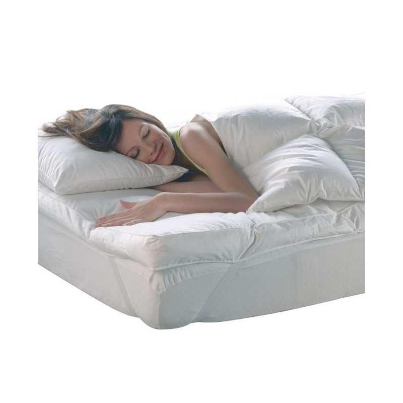 surmatelas 140x190 plumes et duvet 1700g m haut luxe la compagnie du blanc. Black Bedroom Furniture Sets. Home Design Ideas