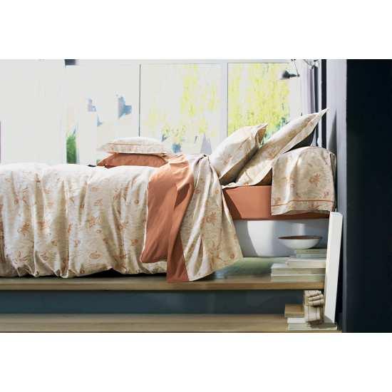 Housse de Couette Campanules Terracotta 220x240 + 2 taies 65x65