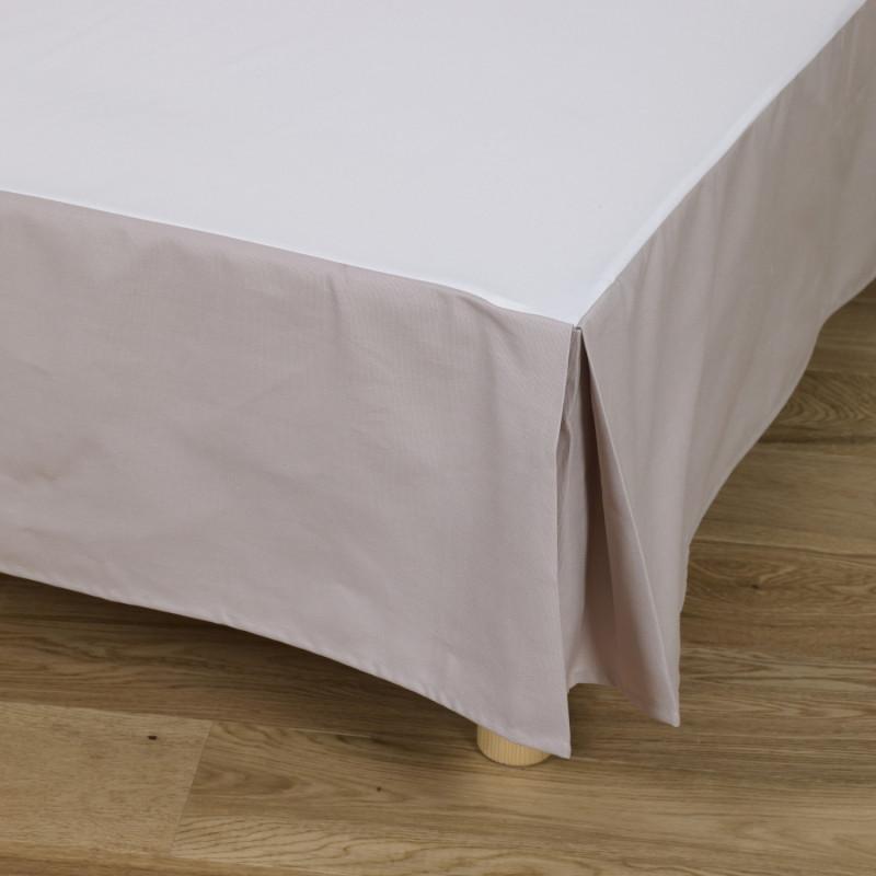cache sommier en coton volant 30 cm bachette. Black Bedroom Furniture Sets. Home Design Ideas