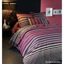 Parure de draps Stripe Camelia Percale 4 pièces (DH140_DP240_2TO)
