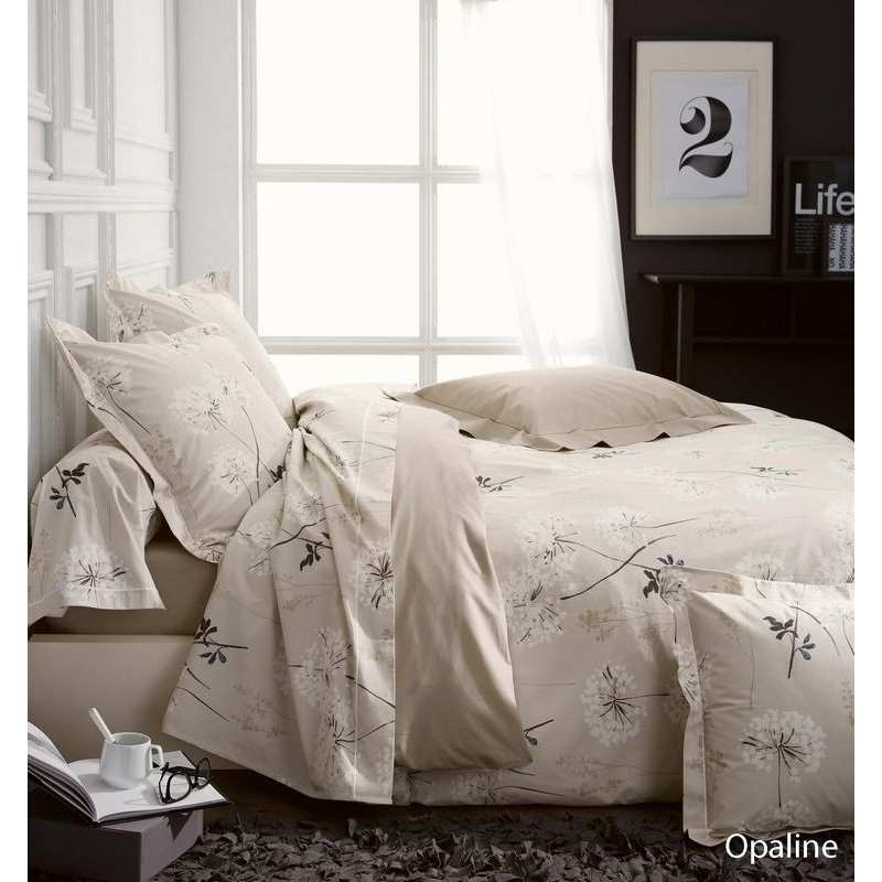 parure de draps opaline percale 4 pi ces dh140 dp240 2to la compagnie du blanc. Black Bedroom Furniture Sets. Home Design Ideas