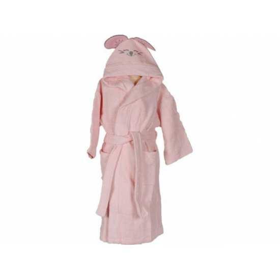 Peignoir de Bain Enfant Brodé Pink Mouse Rose