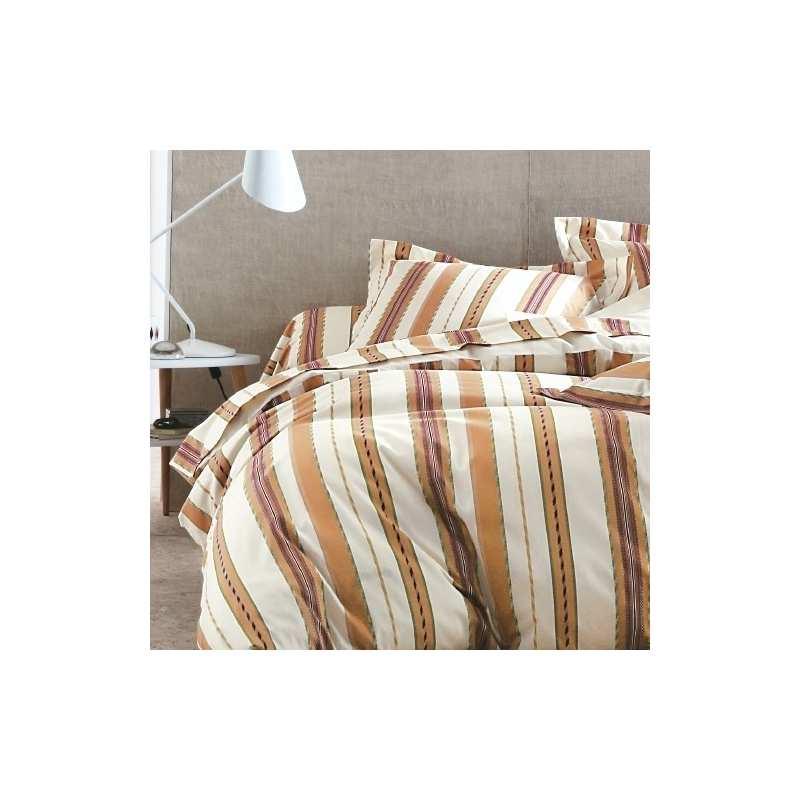 housse de couette oxford terracota 200x200 2 taies 65x65. Black Bedroom Furniture Sets. Home Design Ideas