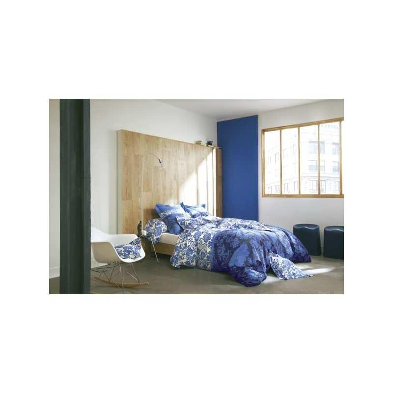 Parure de draps 4 pieces dolce vita bleu klein dh140 for Parure de lit bleu et blanc