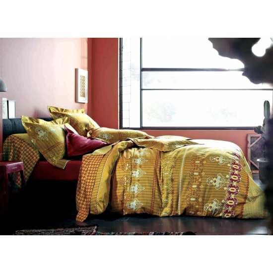 Parure de Draps 4 Pieces India Cuivre (DH140_DP240_2TO)