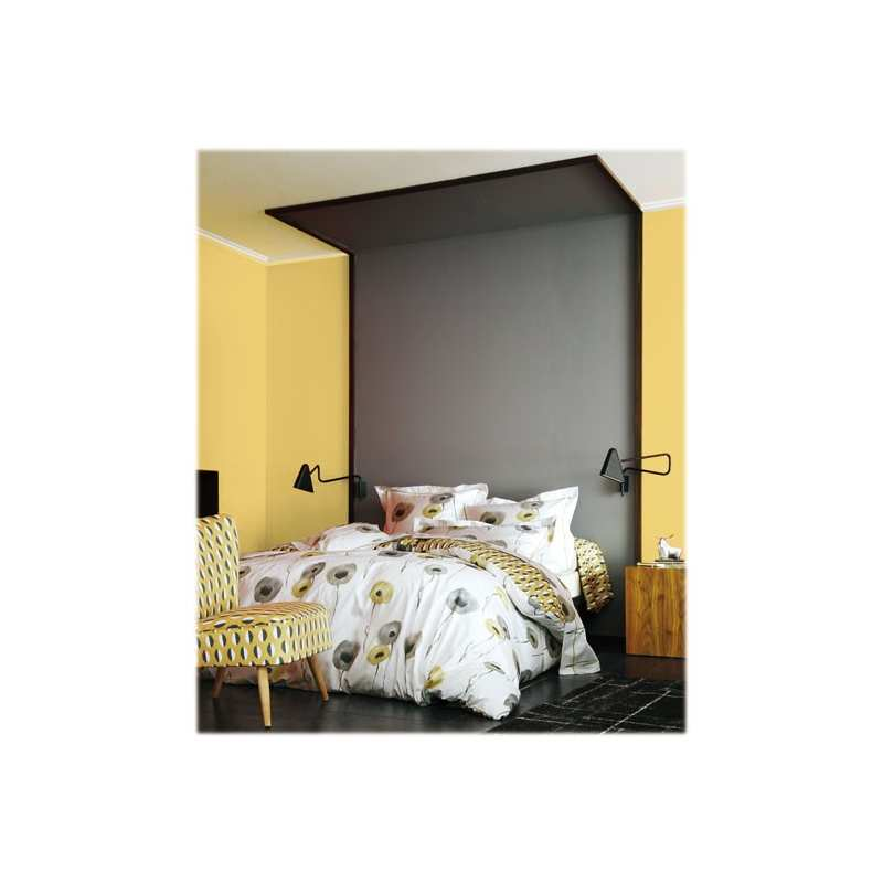 parure de draps 4 pieces poppie sepia dh140 dp240 2to la compagnie du blanc. Black Bedroom Furniture Sets. Home Design Ideas
