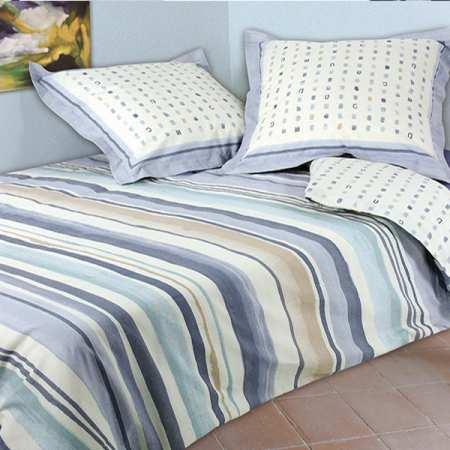 Parure de draps Mosaique Noir Percale 4 pièces (DH140_DP240_2TO)