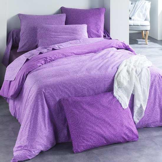 Housse de Couette Victoria Violet 200x200 + 2 Taies 65x65