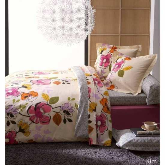 housse de couette kim 240x260 2 taies 65x65 la compagnie du blanc. Black Bedroom Furniture Sets. Home Design Ideas