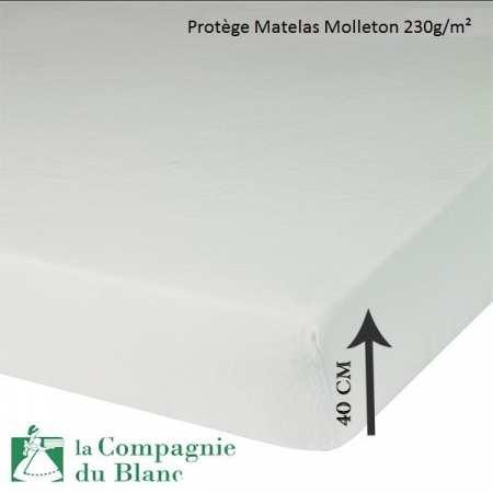 Protège Matelas Molleton 230g/m² BONNET 40 CM