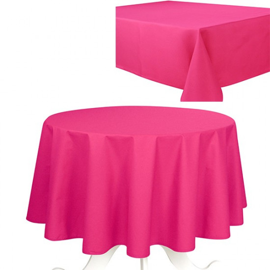 nappe de table uni fushia effet coton 240g m2 la compagnie du blanc. Black Bedroom Furniture Sets. Home Design Ideas