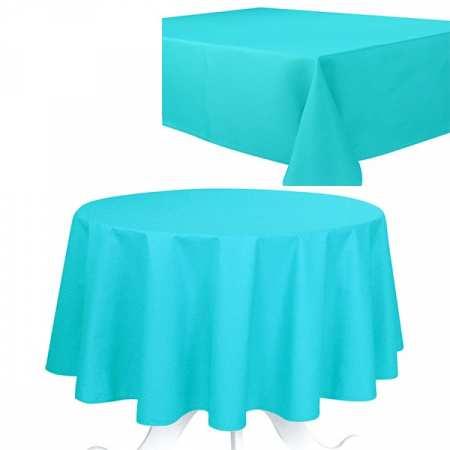 Nappe de Table Uni Turquoise Effet Coton 240g/m2