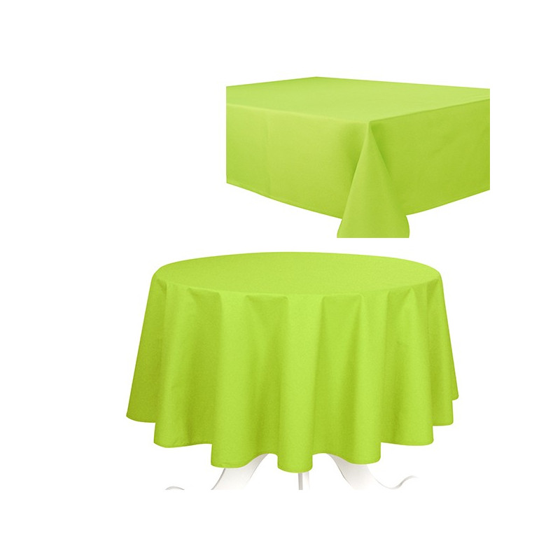 Delightful Nappe Ovale Anti Tache #13: Nappe-de-table-uni-effet ...